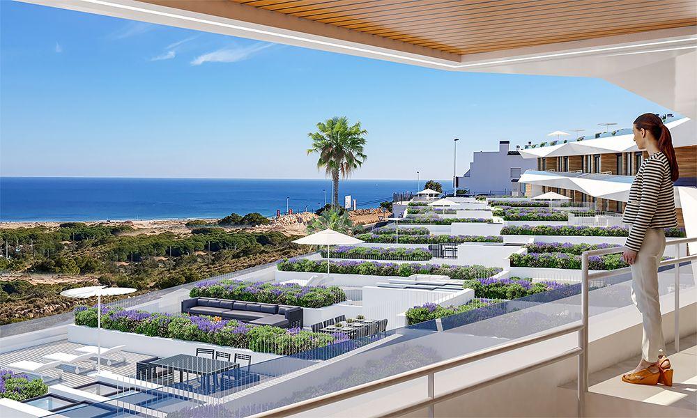REF00236 Nowe apartamenty z widokiem na morze i góry w Gran Alacant.