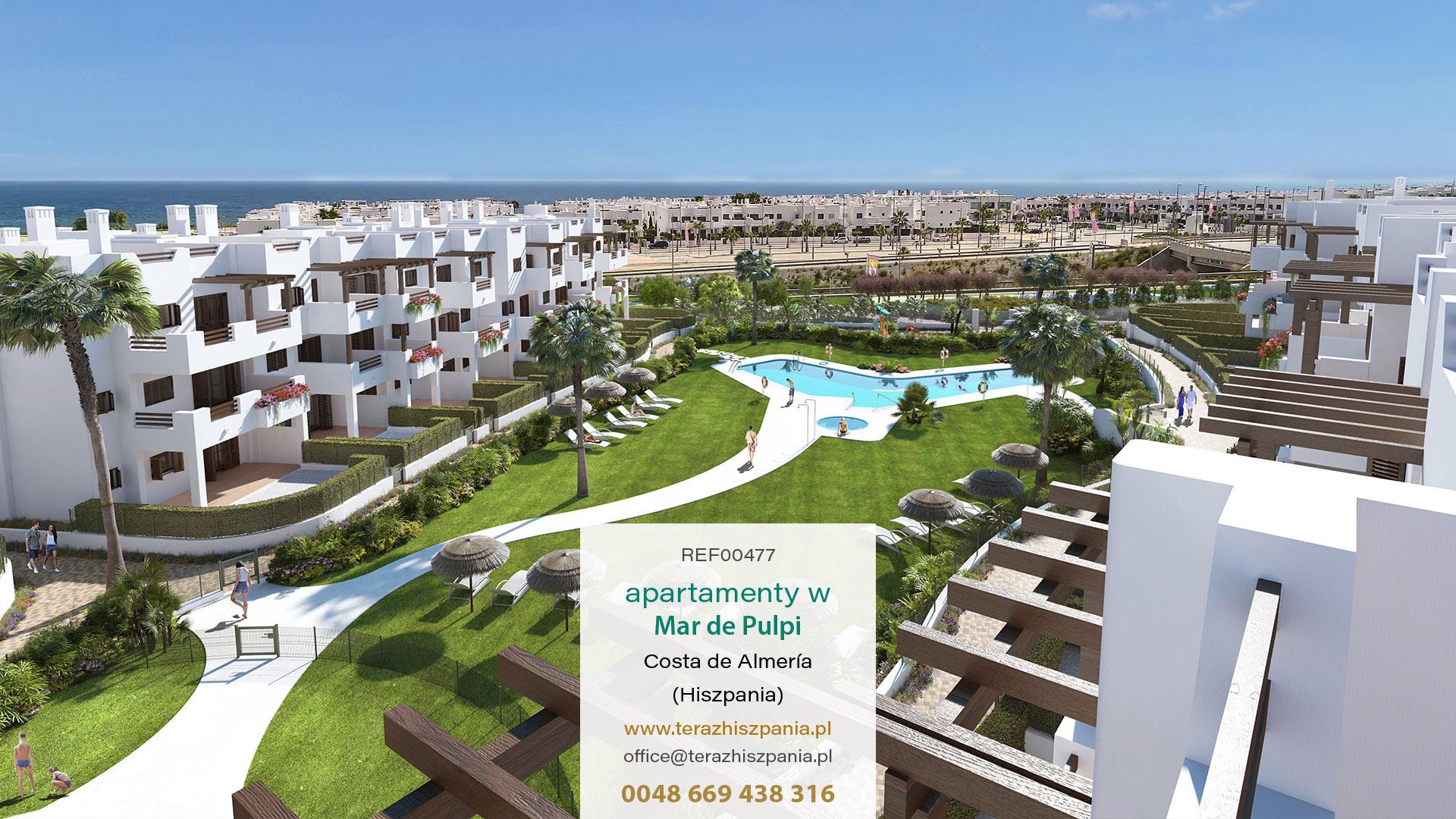 REF00477 Apartamenty w Mar de Pulpi z na wybrzeżu Almerii, w południowej Hiszpanii.